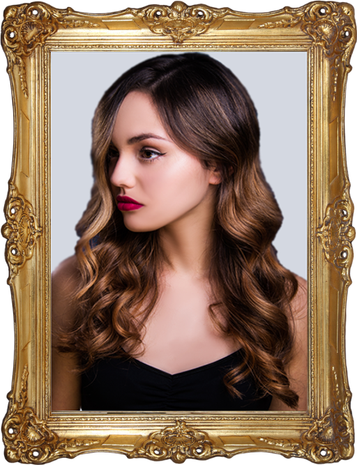 Profile of a woman with hair coloured using balayage method